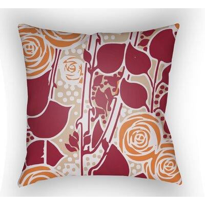 Capron Throw Pillow Size: 20 H x 20 W x 4 D, Color: Red/Orange/Tan