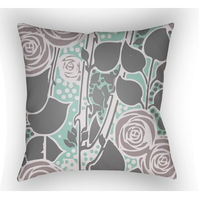Capron Throw Pillow Size: 20 H x 20 W x 4 D, Color: Grey/Mauve/Turquoise