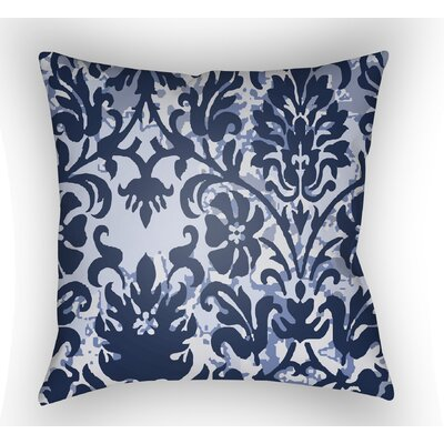 Amiyah Throw Pillow Size: 18 H x 18 W x 4 D, Color: Dark Blue