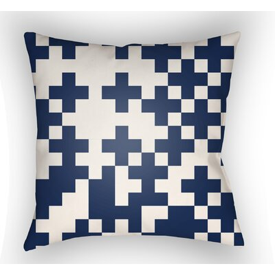 Walpole Square Throw Pillow Size: 18 H x 18 W x 4 D, Color: White