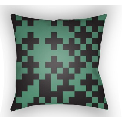 Walpole Square Throw Pillow Size: 20 H x 20 W x 4 D, Color: Green