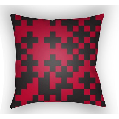 Walpole Square Throw Pillow Size: 18 H x 18 W x 4 D, Color: Red