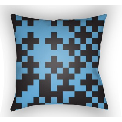 Walpole Square Throw Pillow Size: 22 H �x 22 W x 5 D, Color: Blue