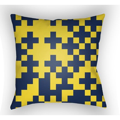 Walpole Square Throw Pillow Size: 20 H x 20 W x 4 D, Color: Yellow