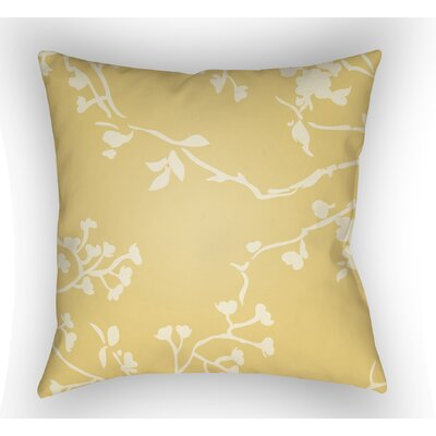 Teena Square Throw Pillow Size: 18 H x 18 W x 4 D, Color: Yellow