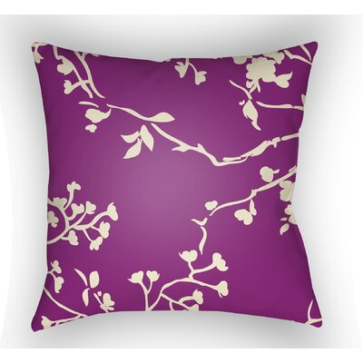 Teena Square Throw Pillow Size: 18 H x 18 W x 4 D, Color: Magenta