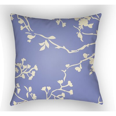 Teena Square Throw Pillow Color: Periwinkle, Size: 20 H x 20 W x 5 D