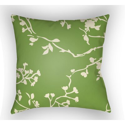 Teena Square Throw Pillow Size: 20 H x 20 W x 5 D, Color: Green