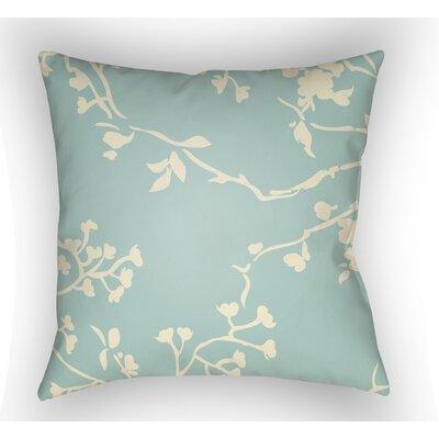 Teena Square Throw Pillow Size: 18 H x 18 W x 4 D, Color: Light Blue