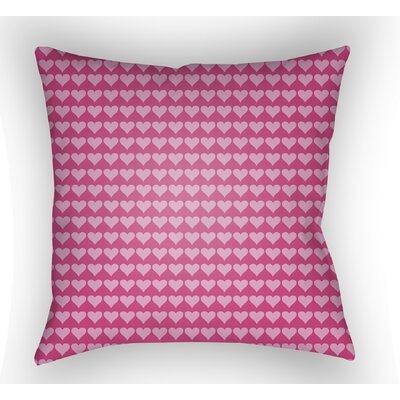 Colinda Square Throw Pillow Size: 20 H x 20 W x 4 D, Color: Pink