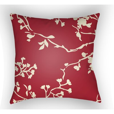 Teena Square Throw Pillow Color: Red, Size: 22 H �x 22 W x 5 D