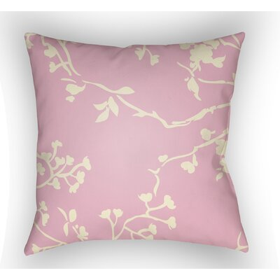 Teena Square Throw Pillow Size: 18 H x 18 W x 4 D, Color: Pink