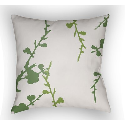 Teena Indoor Throw Pillow Size: 20 H x 20 W x 4 D, Color: White/Green