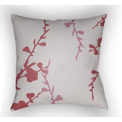 Teena Indoor Throw Pillow Size: 20 H x 20 W x 4 D, Color: Light Grey/Pink