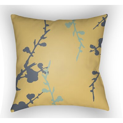 Teena Throw Pillow Size: 20 H x 20 W x 4 D, Color: Yellow/Blue