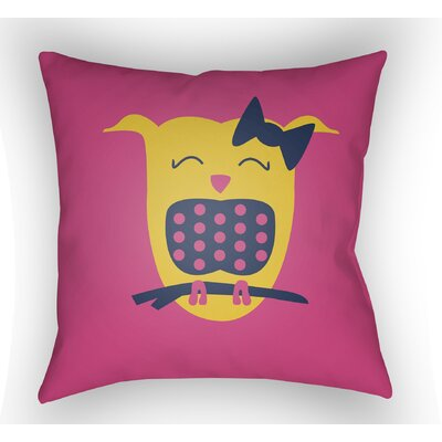 Colinda Owl Throw Pillow Color: Magenta, Size: 20 H x 20 W x 4 D