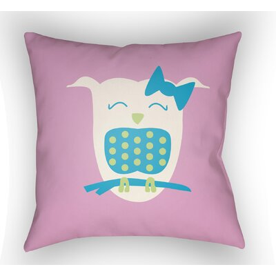 Colinda Owl Throw Pillow Size: 20 H x 20 W x 4 D, Color: Pink