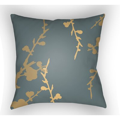 Teena Indoor Throw Pillow Size: 20 H x 20 W x 4 D, Color: Slate Blue/Gold