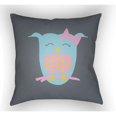 Colinda Owl Throw Pillow Size: 20 H x 20 W x 4 D, Color: Grey