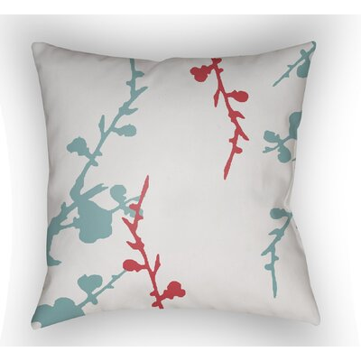 Teena Indoor Throw Pillow Size: 18 H x 18 W x 4 D, Color: White/Blue/Red