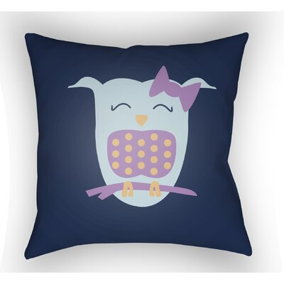 Colinda Owl Throw Pillow Size: 20 H x 20 W x 4 D, Color: Dark Blue