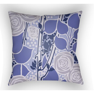 Capron Throw Pillow Size: 22 H x 22 W x 5 D, Color: Periwinkle
