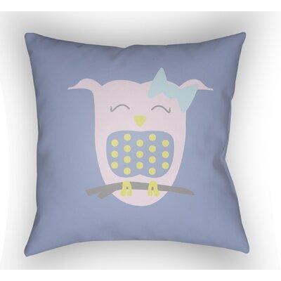 Colinda Owl Throw Pillow Size: 18 H x 18 W x 4 D, Color: Light Blue