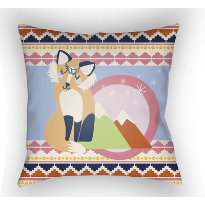 Colinda Fox Throw Pillow Size: 18 H x 18 W x 4 D, Color: Light Blue