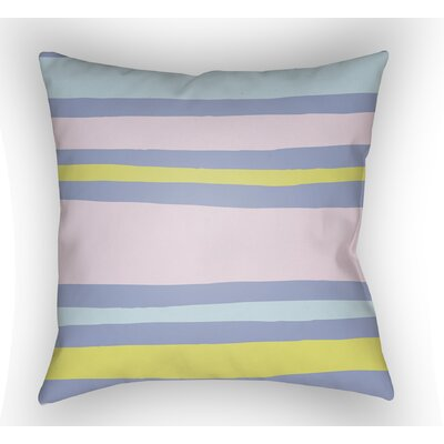 Colinda Striped Indoor Throw Pillow Size: 20 H x 20 W x 4 D, Color: Pink/Yellow