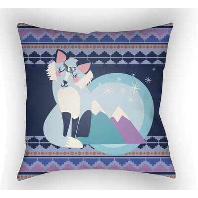 Colinda Fox Throw Pillow Size: 20 H x 20 W x 4 D, Color: Dark Blue
