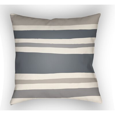 Colinda Striped Indoor Throw Pillow Size: 18 H x 18 W x 4 D, Color: Grey