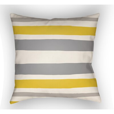 Colinda Striped Indoor Throw Pillow Color: Grey/Yellow, Size: 22 H x 22 W x 5 D