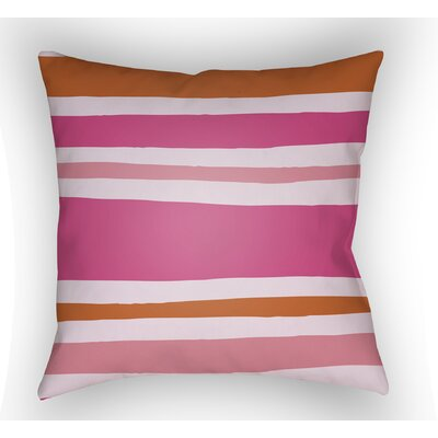 Colinda Striped Indoor Throw Pillow Size: 18 H x 18 W x 4 D, Color: Pink/Orange