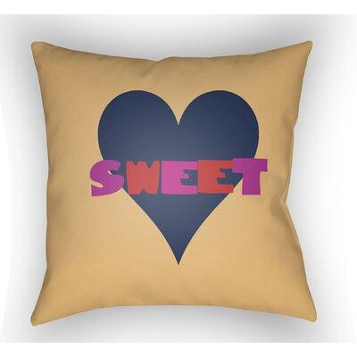 Colinda Sweet Throw Pillow Size: 18 H x 18 W x 4 D, Color: Orange