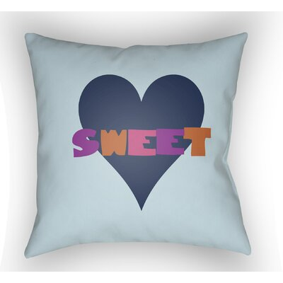 Colinda Sweet Throw Pillow Color: Light Blue, Size: 22 H �x 22 W x 5 D