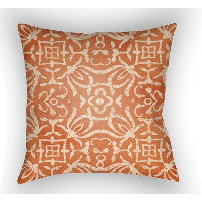 Libchava Indoor Throw Pillow Size: 18 H x 18 W x 4 D, Color: Orange