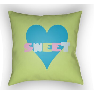 Colinda Sweet Throw Pillow Size: 20 H x 20 W x 4 D, Color: Green