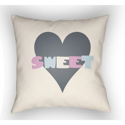 Colinda Sweet Throw Pillow Size: 22 H �x 22 W x 5 D, Color: White
