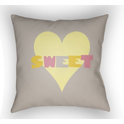 Colinda Sweet Throw Pillow Color: Grey, Size: 22 H �x 22 W x 5 D