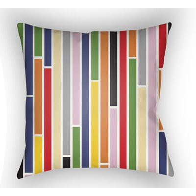 Wakefield Stripe Throw Pillow Color: Red/Orange, Size: 22 H �x 22 W x 5 D