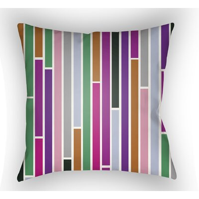 Wakefield Throw Pillow Size: 18 H x 18 W x 4 D, Color: Purple/Pink