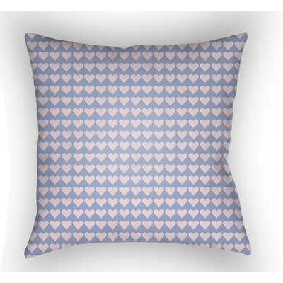 Colinda Square Throw Pillow Size: 18 H x 18 W x 4 D, Color: Light Purple