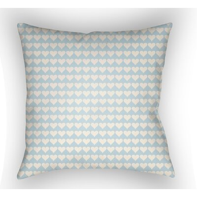Colinda Square Throw Pillow Size: 20 H x 20 W x 4 D, Color: Light Blue