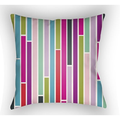 Wakefield Throw Pillow Size: 18 H x 18 W x 4 D, Color: Purple/Green