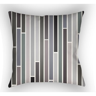 Wakefield Throw Pillow Size: 20 H x 20 W x 4 D, Color: Gray