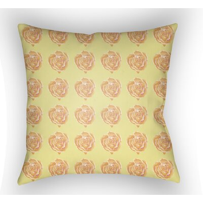 Cassidy Floral Throw Pillow Size: 18 H x 18 W x 4 D, Color: Yellow