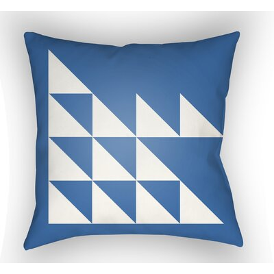 Wakefield Geometric Square Indoor Throw Pillow Color: Blue, Size: 20 H x 20 W x 5 D