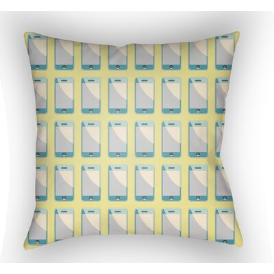 Cassidy Geometric Throw Pillow Size: 20 H x 20 W x 4 D, Color: Chartreuse