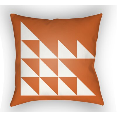 Wakefield Geometric Square Indoor Throw Pillow Size: 18 H x 18 W x 4 D, Color: Orange