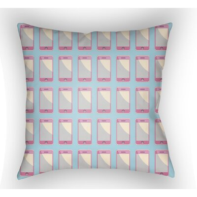 Cassidy Geometric Throw Pillow Size: 20 H x 20 W x 4 D, Color: Robins Egg